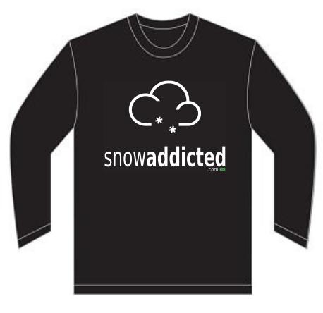 T-shirt Snowaddicted - Mod002